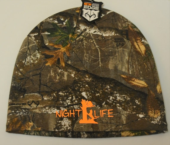 Coon Hunting Night Life Camo Knit Beanie Cap can be Customized