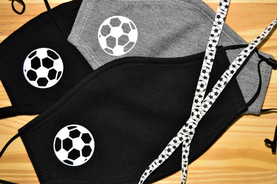 Soccer Adult Soft Washable Face Mask