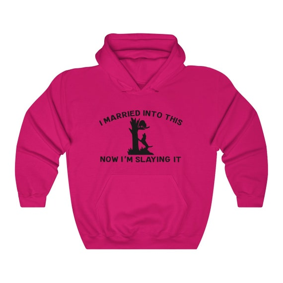 Coon Hunting Married Into It Unisex Heavy Blend Hooded Sweatshirt