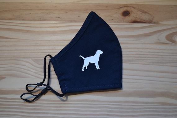 Dog Design Child or Adult All Cotton Washable Face Mask Lanyard Strap