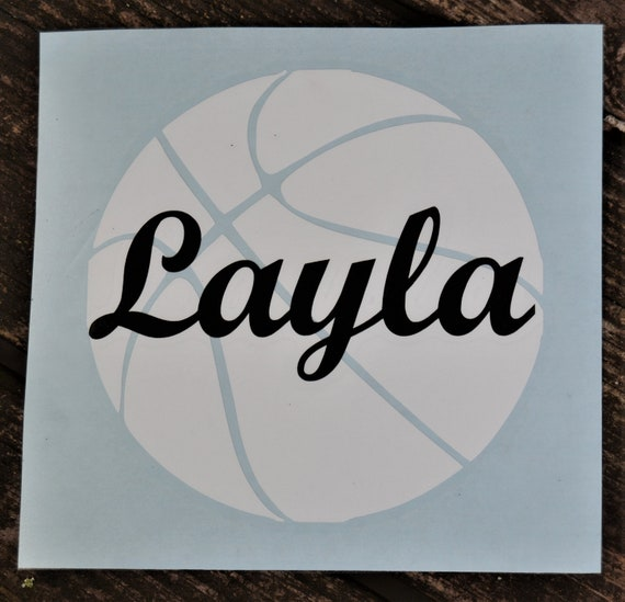 Personalized Basketball Decal for Cars, Water Bottles, Tumblers and More