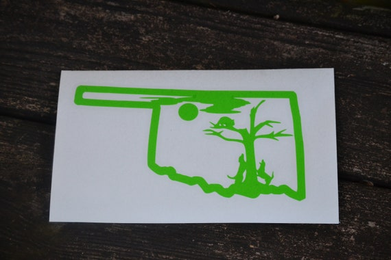 Oklahoma Treed Coon Hunting Decal For Trucks and Dog Boxes