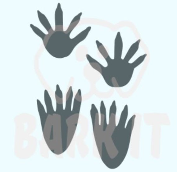 Raccoon Tracks Coon SVG, PDF, PNG, eps, dxf Digital Download Cut File for decals, shirts and more