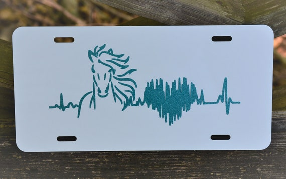 Horse Heartbeat License Plate