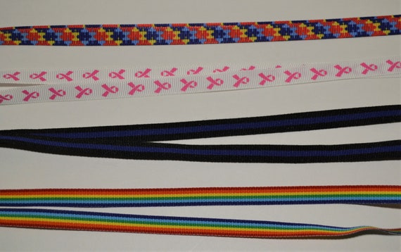 Causes Face Mask Lanyard Adjustable Strap for Face Coverings Autism, Pink Ribbon, Pride, Thin Blue Line