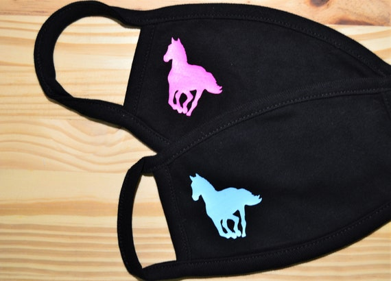Youth or Adult  Running Horse All Cotton Washable Face Mask