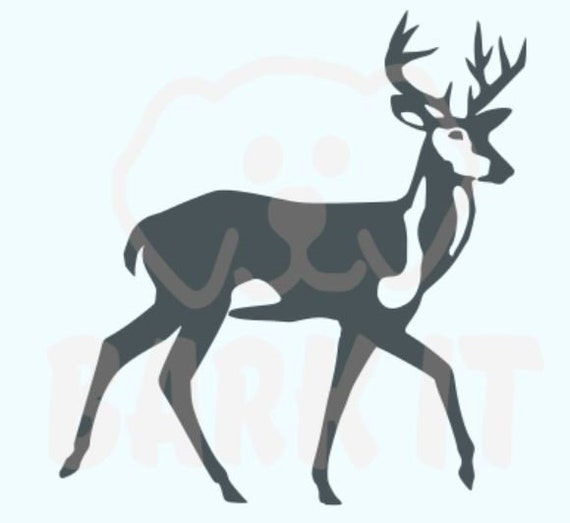 Deer Standing SVG, PDF, PNG, eps, dxf Digital Download Cut File for decals, shirts and more