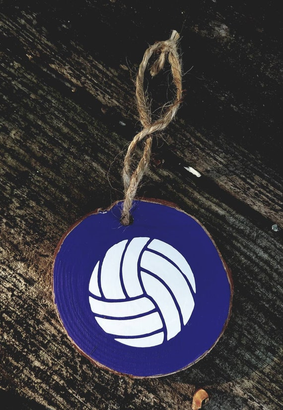 Volleyball Natural Wood Slice Ornament