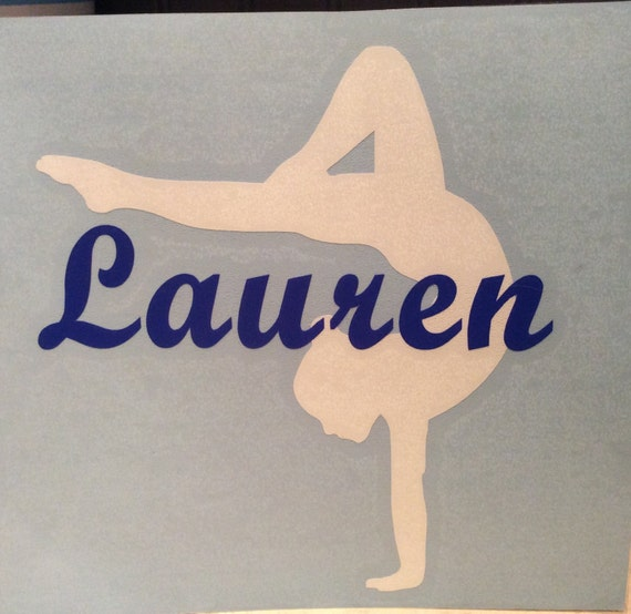 Gymnastic Vinyl Personalized  Decal