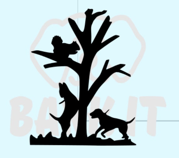 Hound Dogs Squirrel Hunting SVG, PDF, PNG, eps, Digital Download Cut File
