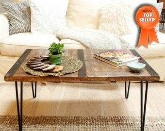 Reclaimed wood coffee table, wood table, Industrial table, urban table, reclaimed wood table, coffee table,wood table,vintage table