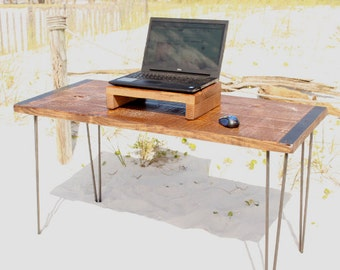 Desk, table, wood desk, computer desk, reclaimed wood desk, reclaimed wood, industrial, industrial desk, office desk, rustic, wood, modern