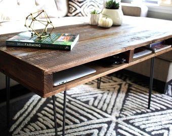 industrial wood furniture diy handcrafted reclaimed wood pallet coffee table furniture wood vintage rustic mid century modern farmhouse industrial wood furniture etsy