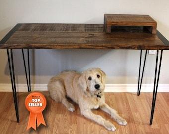 Wood Desk Etsy