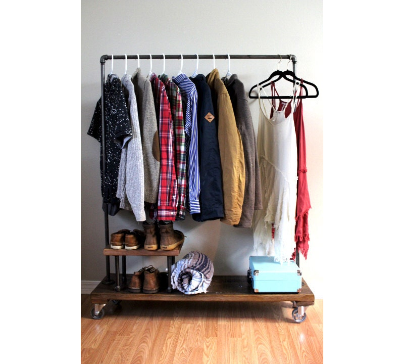 Exceptionnel Clothing Rack With Stand, Garment Rack, Clothes Rack, Industrial, Rack,  Furniture, Coat Rack, Storage, Pipe Rack, Clothing Storage, Vintage