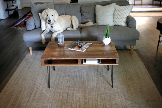 Reclaimed Wood Coffee Table With Storage Rustic Industrial Wood Farmhouse  Side Table Handcrafted Mid Century Modern Wooden Pallet White