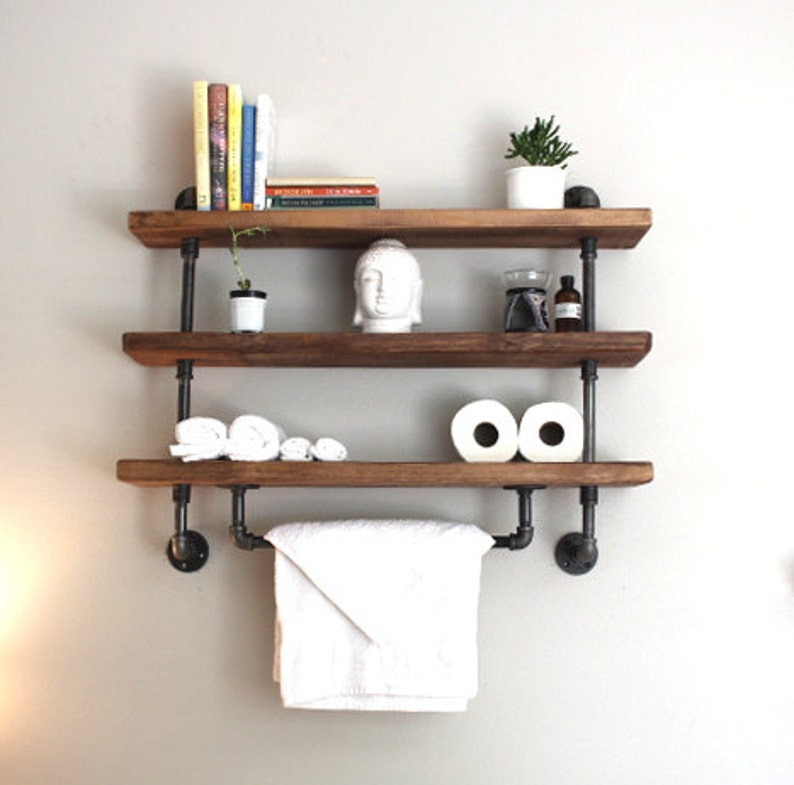 Terrific Industrial Pipe Shelf Bathroom Shelves Kitchen Shelves Entryway Shelf Storage Shelf Reclaimedwoodusa Bathroom Shelf Download Free Architecture Designs Scobabritishbridgeorg