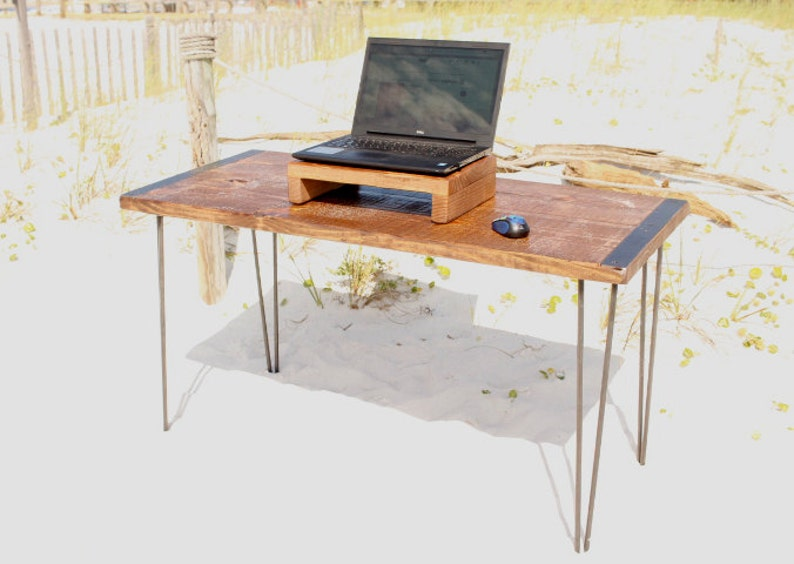 Bureau table bureau bois bureau dordinateur bureau bois etsy