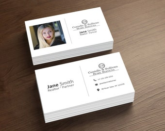Real estate business cards etsy real estate business cards realtor business card digital file only printable business card full customization colourmoves