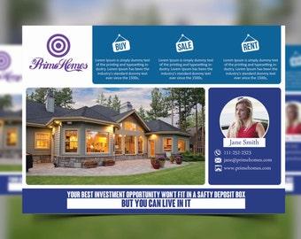 Real Estate Postcard Etsy - Free real estate postcard templates microsoft word