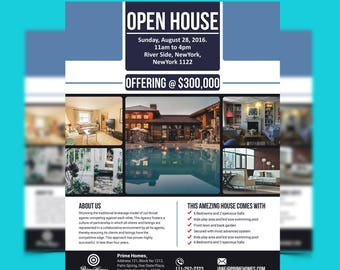 Immobilien Werbung Flyer aufgeführt nur Vorlage editierbar   Etsy