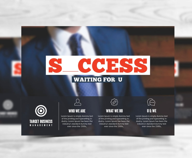 Multipurpose Corporate Advertising Postcard Template Etsy