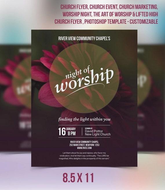 Church Flyer Event Marketing Worship Night