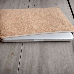 vegan perfect for MacBook 12 inch - YZ handmade laptop sleeve Laptop Case 12  inch  iPad  Tablet bag made from cork Colour dot