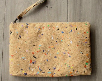 """Laptop Case 13 """" - 13.3 """" inch made from cork, handmade laptop sleeve, perfect for MacBooks 13 -13.3 inch, vegan  (Colour dot)"""