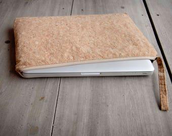 Cork Laptop Case 15 - 16 inch- Cork Laptop Case 15 - 16 inch: Cork laptop sleeve, MacBook case 15 -16 inch(Nature colour)