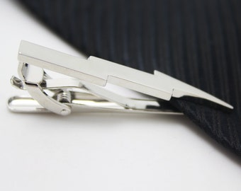 Lightning  Tie Clip, Silver Lightning Accessories, Novelty Accessories, Gift For Man