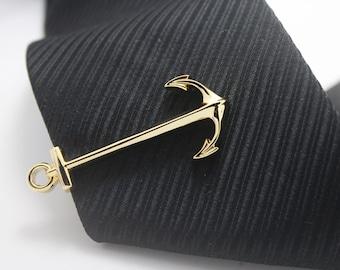 Anchor, Sailor Tie Clip, Seaman Accessories,Gold Accessories, Novelty Accessories, Gift For Man