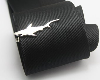 Shark Tie Clip, The Great Silver Shark Accessories, Novelty Accessories, Gift For Man