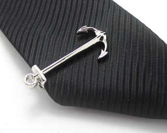 Anchor, Sailor Tie Clip, Seaman Accessories, Silver Accessories, Novelty Accessories, Gift For Man