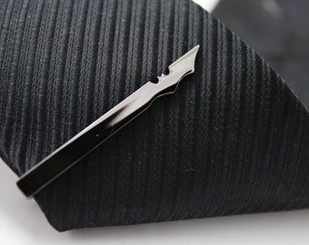 Bat Tie Clip, Hero Tie Clip, Gun Black Tie Clip, Novelty Accessories, Gift For Man