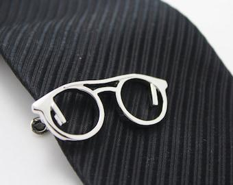 Eye Glasses , Comedy Tie Clip, Glass Accessories, Silver Accessories, Novelty Accessories, Gift For Man