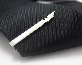 Bat Tie Clip, Hero Accessories, Silver Accessories, Novelty Accessories, Gift For Man