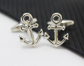Anchor, Sailor Cuff Links, Seaman Accessories, Silver Accessories, Novelty Accessories, Gift For Man