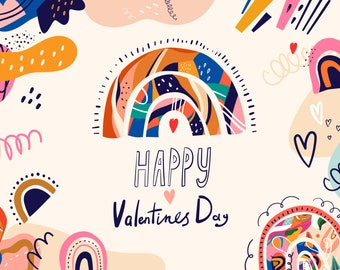 Valentines Day Clipart Hearts clipart  Love Heart Print Valentines Day Png