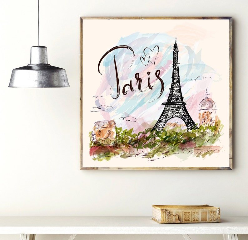 Amazing Art Print Paris Wall Art Decor Poster With The Eiffel Tower