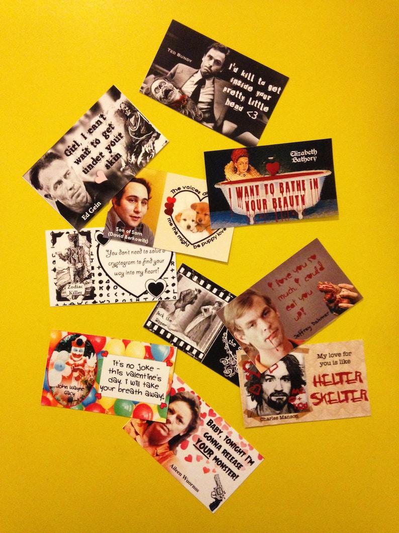 Printable Serial Killer Valentine's Day Cards  Set of 10 image 0
