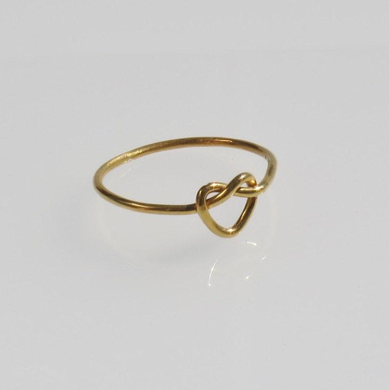 5e89282d0bb1 Anillo nudo de oro corazón 925 anillo nudo del amor regalo de