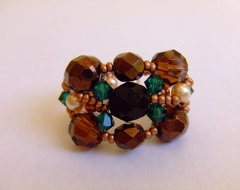 PRICE reduced: Ring faceted beads and bicones