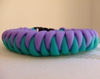 Paracord survival bracelet two colors for men