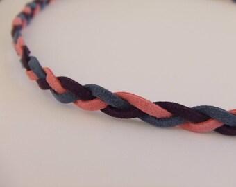 Braided suede headband