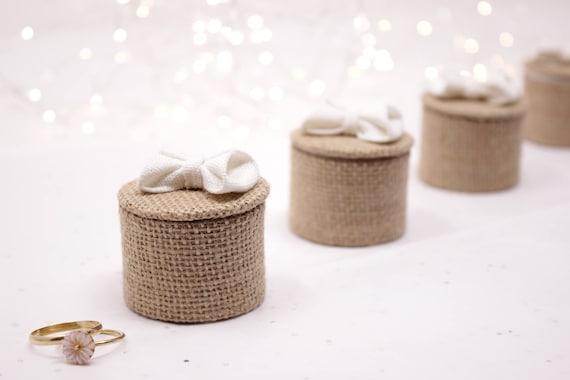 kleine boxen in jute segeltuch brautjungfern geschenke zu etsy. Black Bedroom Furniture Sets. Home Design Ideas