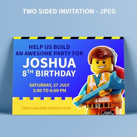 Lego Party Birthday Invitation Movie Boy
