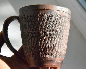 Pottery Tea Cup  Ceramic Mug Clay Teacup