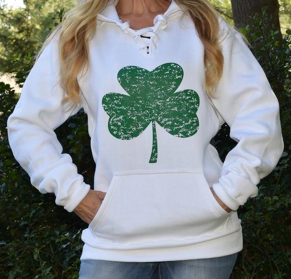 Patricks Day Irish US Flag Hoodie All Things Apparel ST