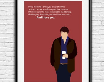 Richard Castle Minimalist Poster | Castle ABC | TV Poster | Kate Beckett | Nathan Fillion